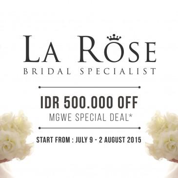 [PROMO] La Rose Bridal Specialist – Mahkota Grand Wedding Expo 2015